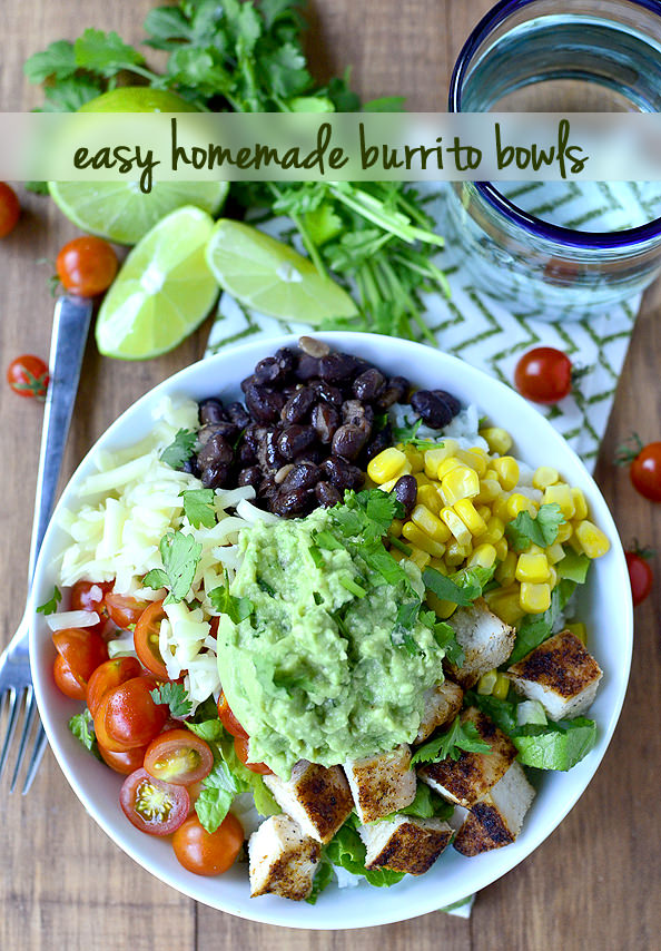Photo of Easy Homemade Burrito Bowls