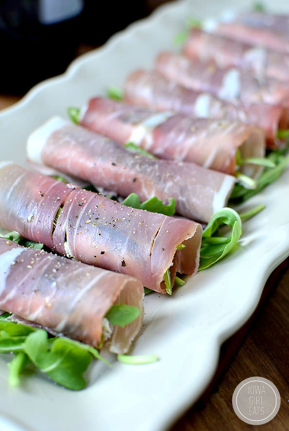 Fig & Prosciutto Roll Ups #glutenfree | iowagirleats.com