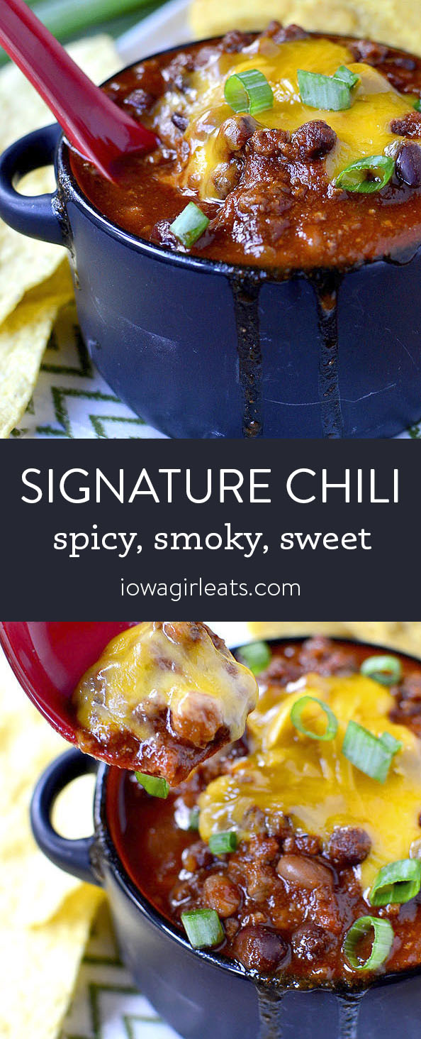 Photo collage of Signature Chili