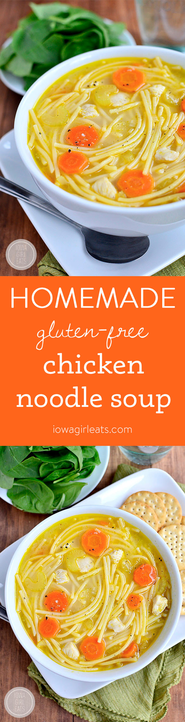 Homemade Chicken Noodle Soup - Gluten-Free! | iowagirleats.com