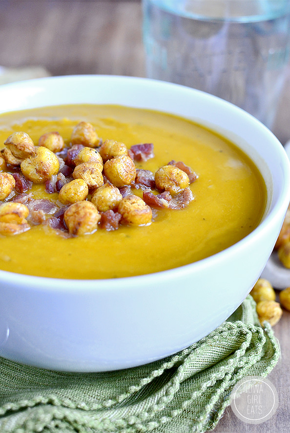 Roasted Butternut Squash Soup with Smoky-Roasted Chickpeas ...