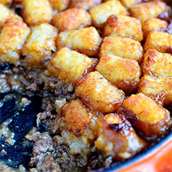 Skillet Tater Tot Casserole (No Condensed Soup!)