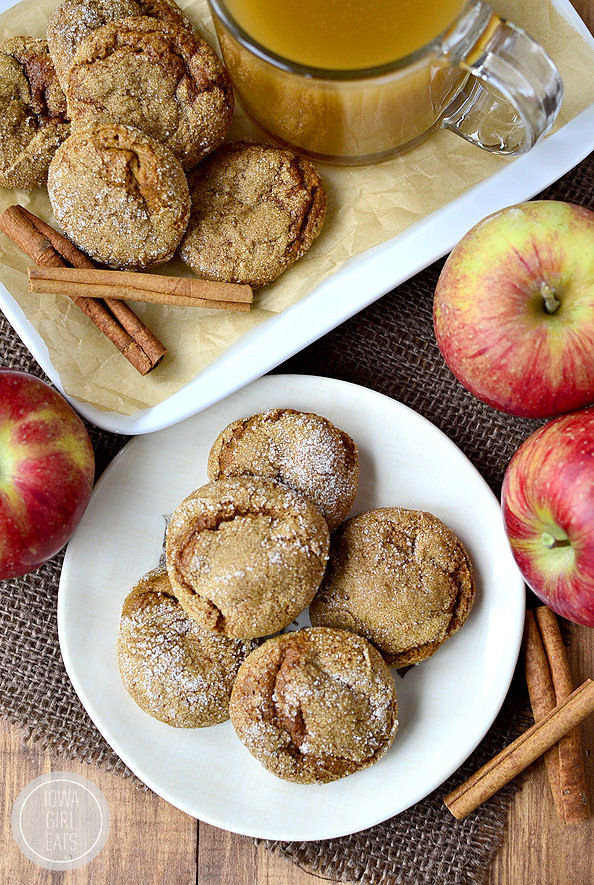 Soft Batch Apple Cider Gingersnap Cookies #glutenfree | iowagirleats.com