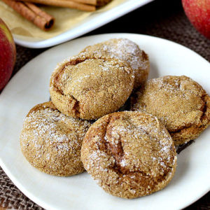 Soft Batch Apple Cider Gingersnap Cookies