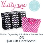 Thirty-One Gifts Bags + Gift Certificate Giveaway - CLOSED