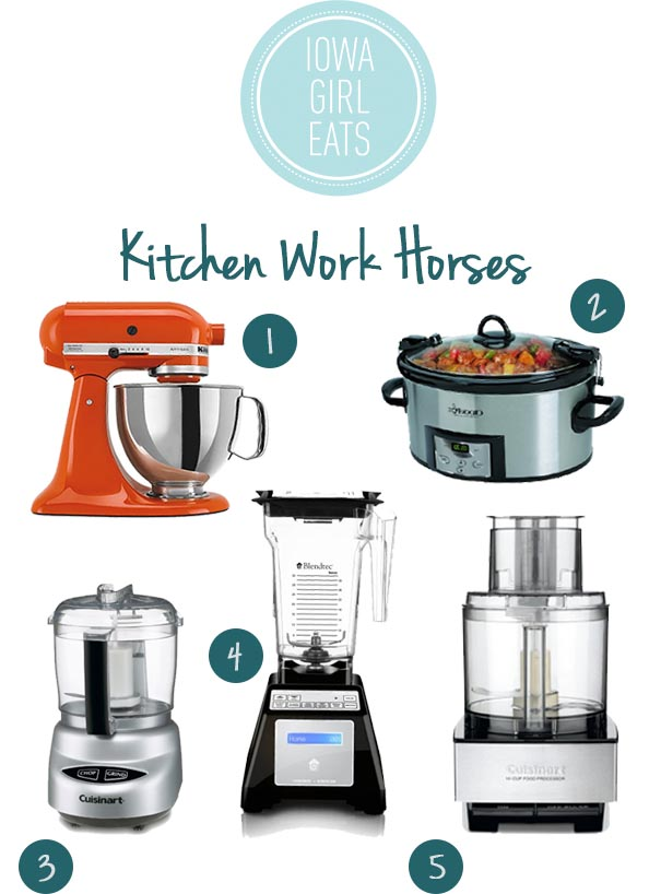 Kitchen Work Horses - 2014 Holiday Gift Guide for Foodies | iowagirleats.com