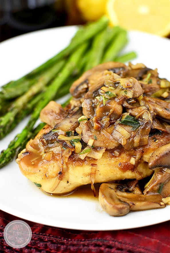 Leek And Mushroom Chicken Skillet Is An Elegant 30 Minute Dinner Recipe Thats Perfect For