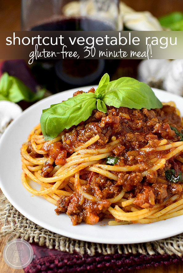 Shortcut Vegetable Ragu #glutenfree | iowagirleats.com
