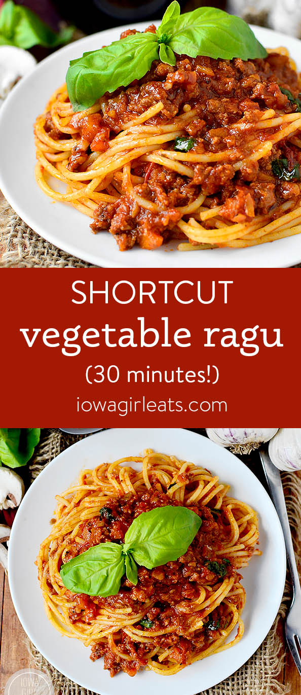 Photo collage of Shortcut Vegetable Ragu