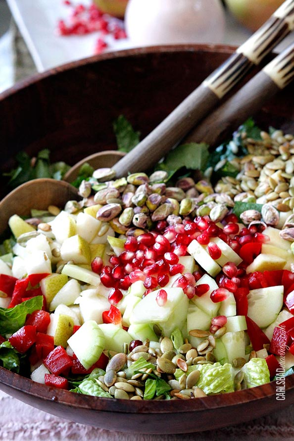 Pomegranate-Pistachio-Pear-Salad-with-Pomegrante-Strawberry-Yogurt-Dressing-15-1