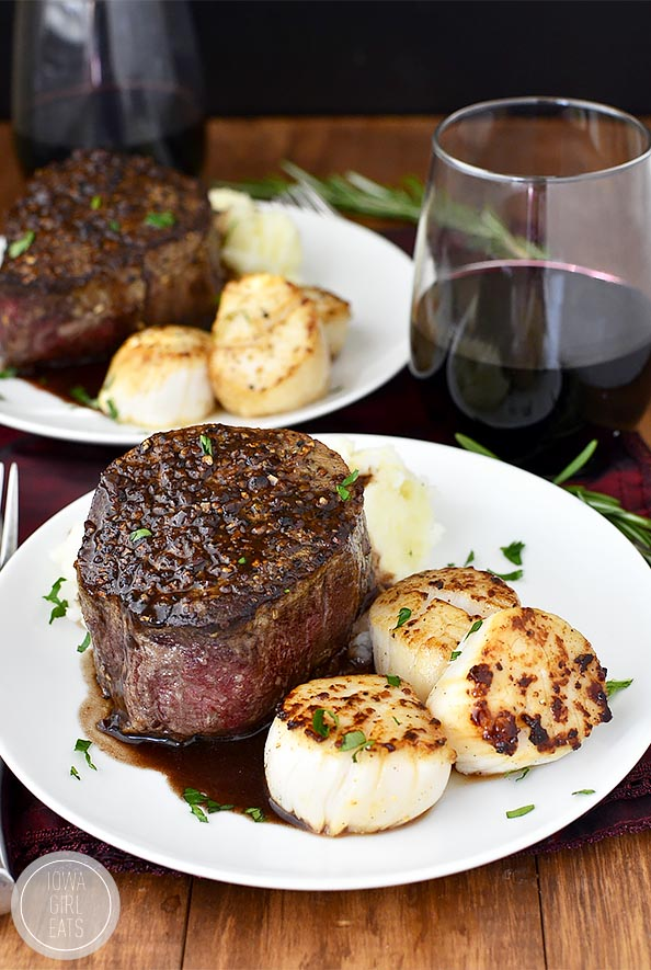 Surf and Turf for Two | Amazing First Date Dinner Recipes | impressive dinner recipes for two