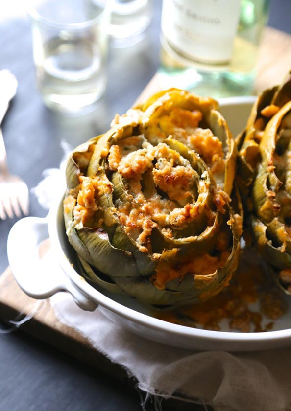 Baked-Buffalo-Chicken-Stuffed-Artichokes-with-Blue-Cheese-www.climbinggriermountain.com_1-600x848
