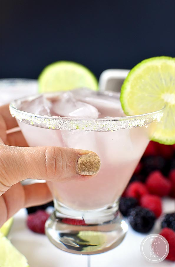 Chambord Margarita is a classic fresh margarita with a fruity yet not too sweet twist! #cocktail | iowagirleats.com