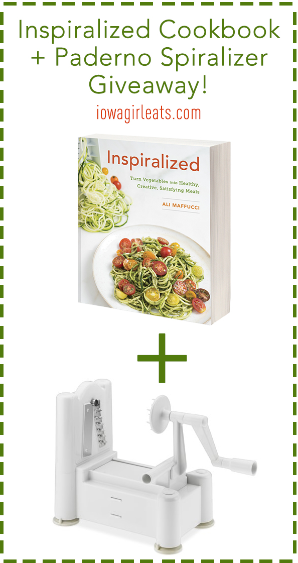 Inspiralized Cook Book plus Paderno Spiralizer Giveaway | iowagirleats.com
