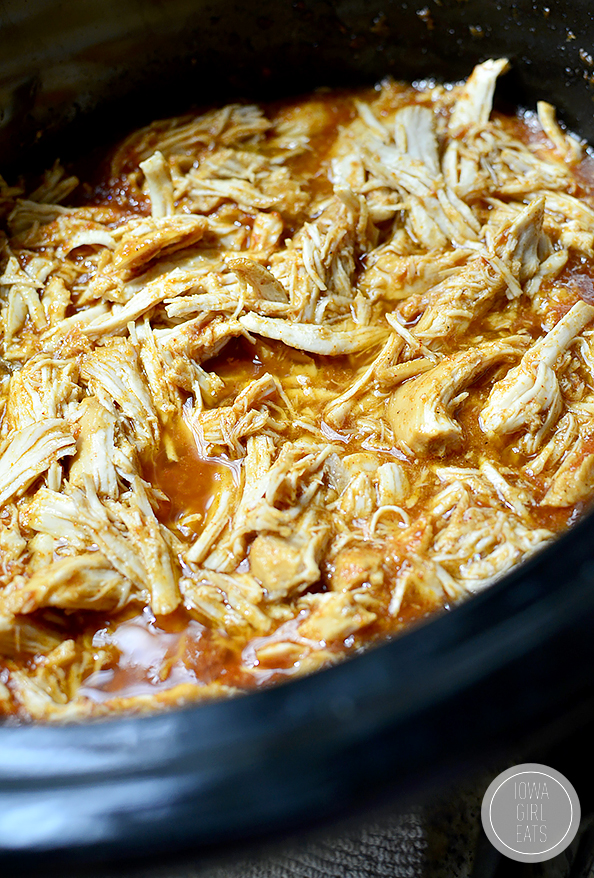 Photo of Crock Pot of shredded BBQ Chicken