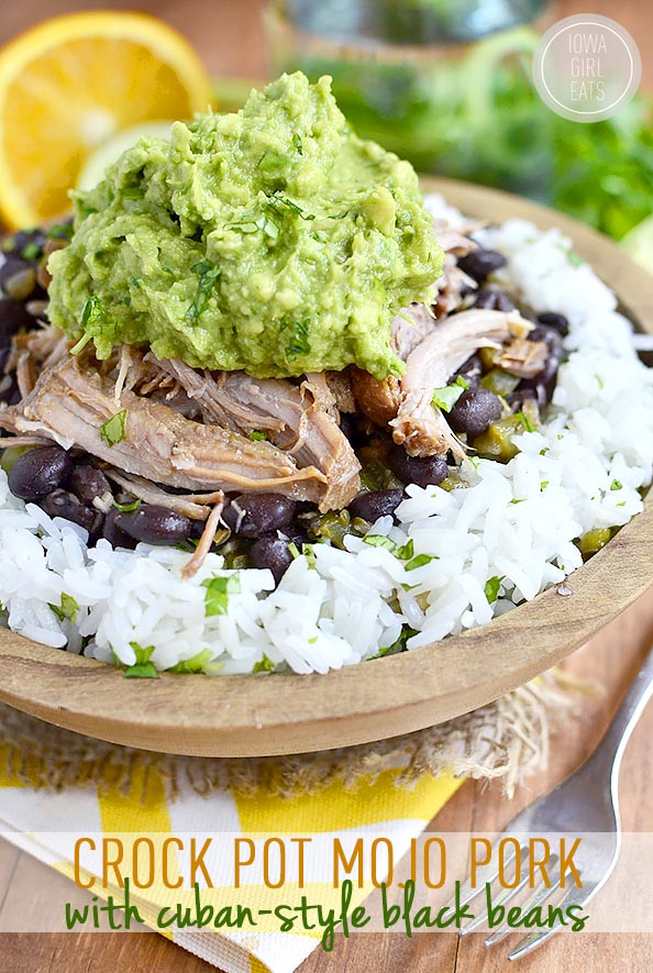 Crock Pot Mojo Pork with Cuban-Style Black Beans (Video ...