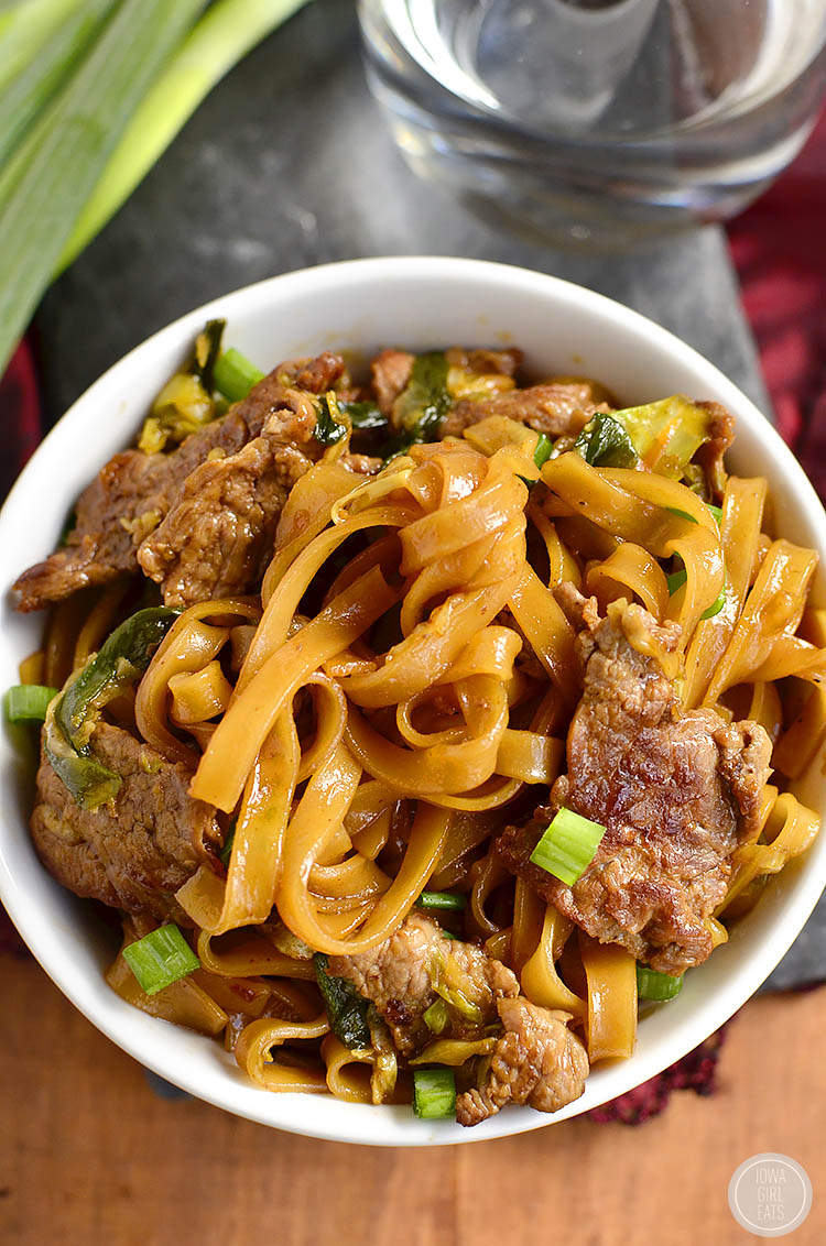Gluten-Free Mongolian Beef Noodle Bowls taste just like take out, swapping rice for chewy rice noodles! | buzzpur.info