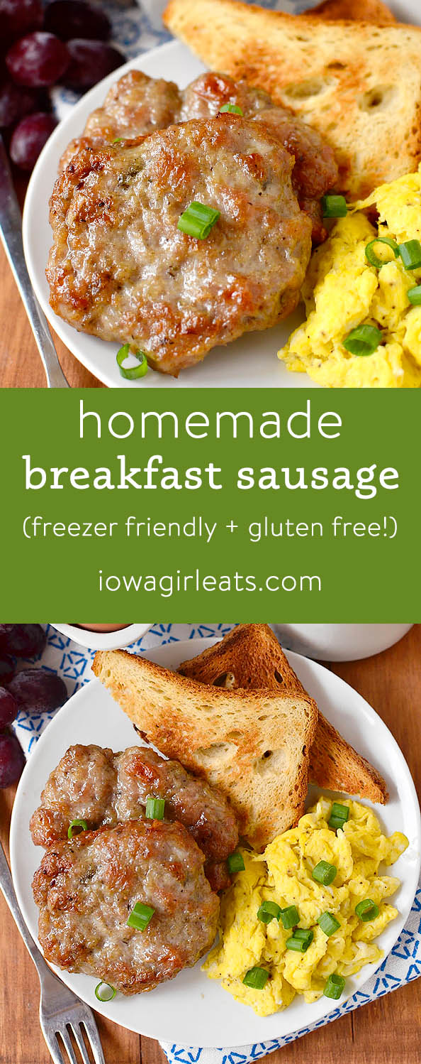 Photo collage of Simple Homemade Breakfast Sausage