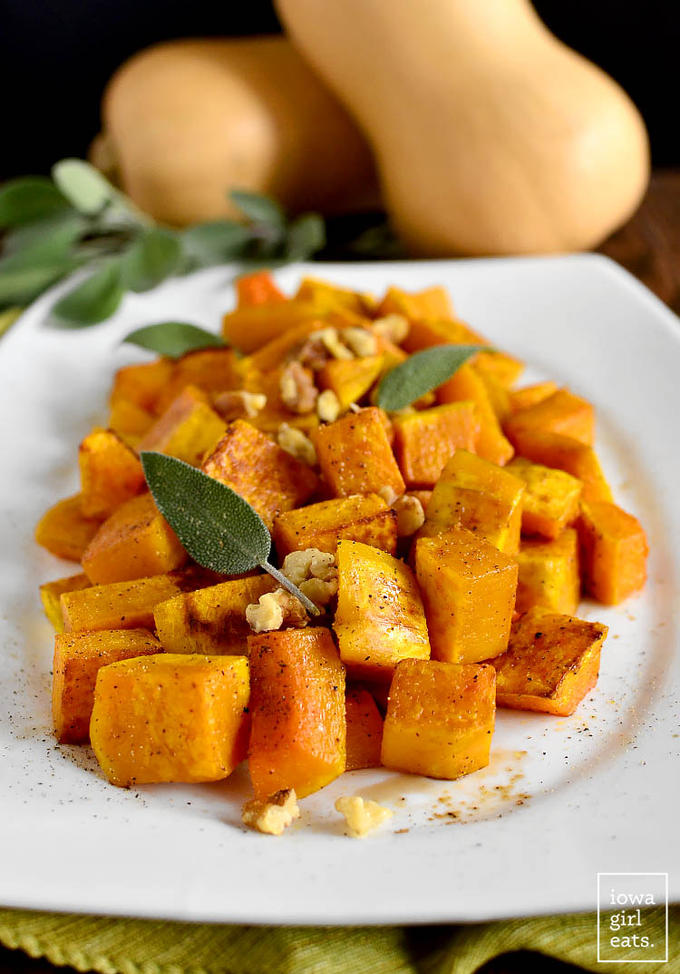 Roasted Balsamic Butternut Squash - Iowa Girl Eats