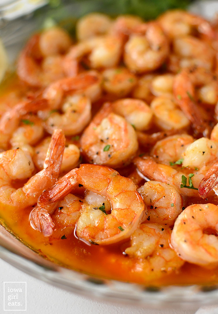 Christmas Eve Cajun Shrimp has been a family tradition for decades. Easy yet absolutely decadent, you'll look forward to eating it all year long. | iowagirleats.com