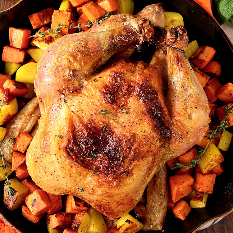 Perfect Roast Chicken (3 Ingredients!) + 10 Ways To Use It