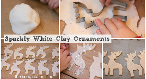 White clay reindeer step by step