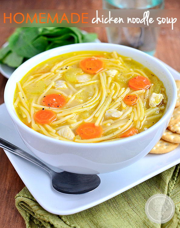 Homemade Chicken Noodle Soup #glutenfree | iowagirleats.com