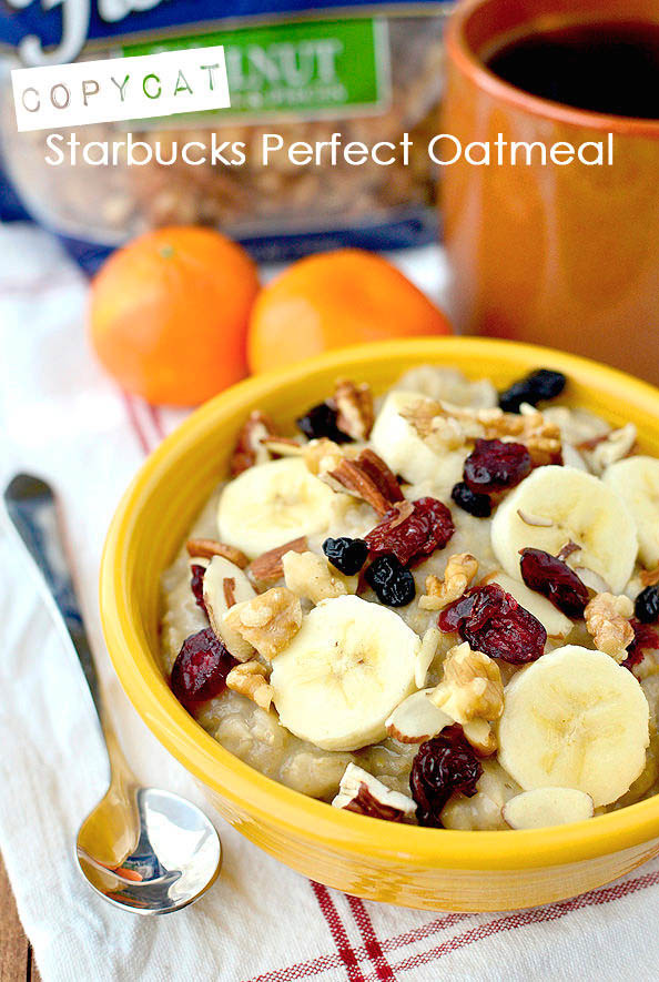 Copycat Starbucks Perfect Oatmeal #glutenfree | iowagirleats.com