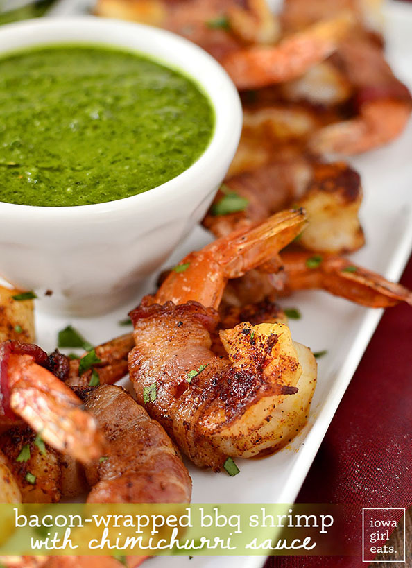 Bacon-Wrapped-BBQ-Shrimp-with-Chimichurri-Sauce-594