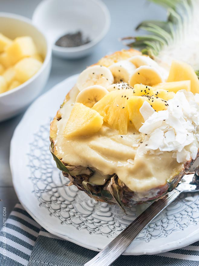 Pineapple Smoothie Bowl | www.kitchenconfidante.com