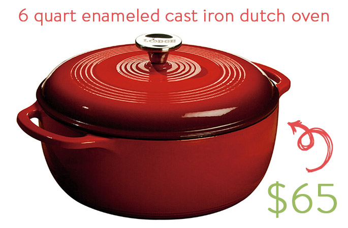 6 quart enameled cast iron dutch oven | iowagirleats.com