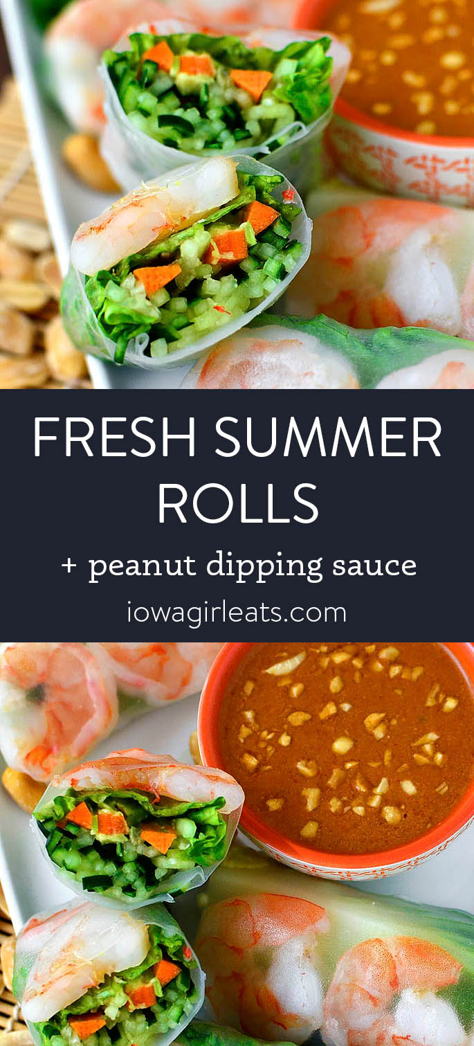 Photo collage of fresh summer rolls