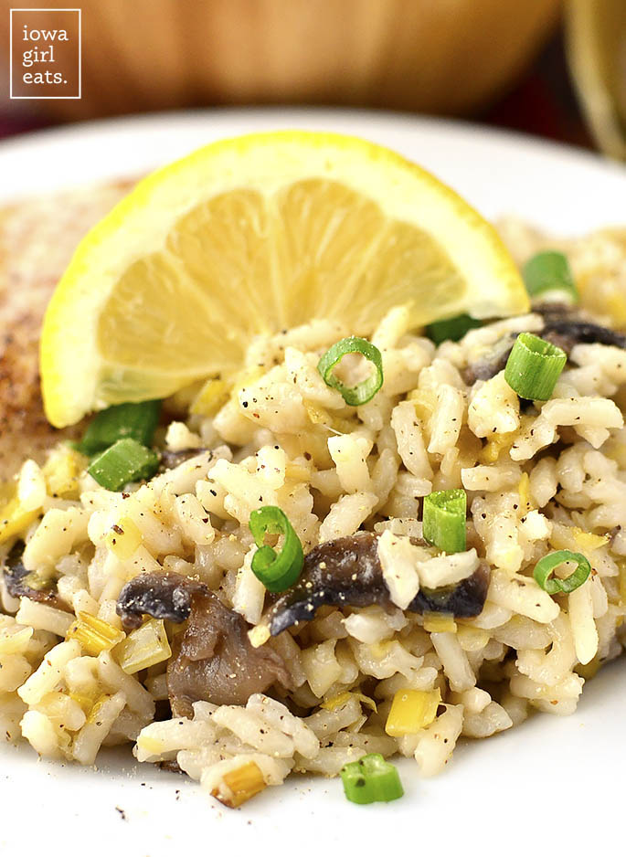 Leek and mushroom rice iowa girl eats leek and mushroom rice is the perfect light and healthy gluten free side dish ccuart Gallery
