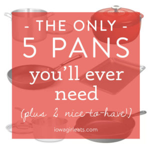 The Only 5 Pans You'll Ever Need