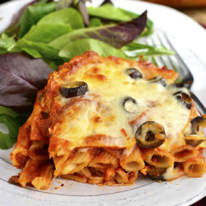 5-Ingredient Pizza Pasta Bake