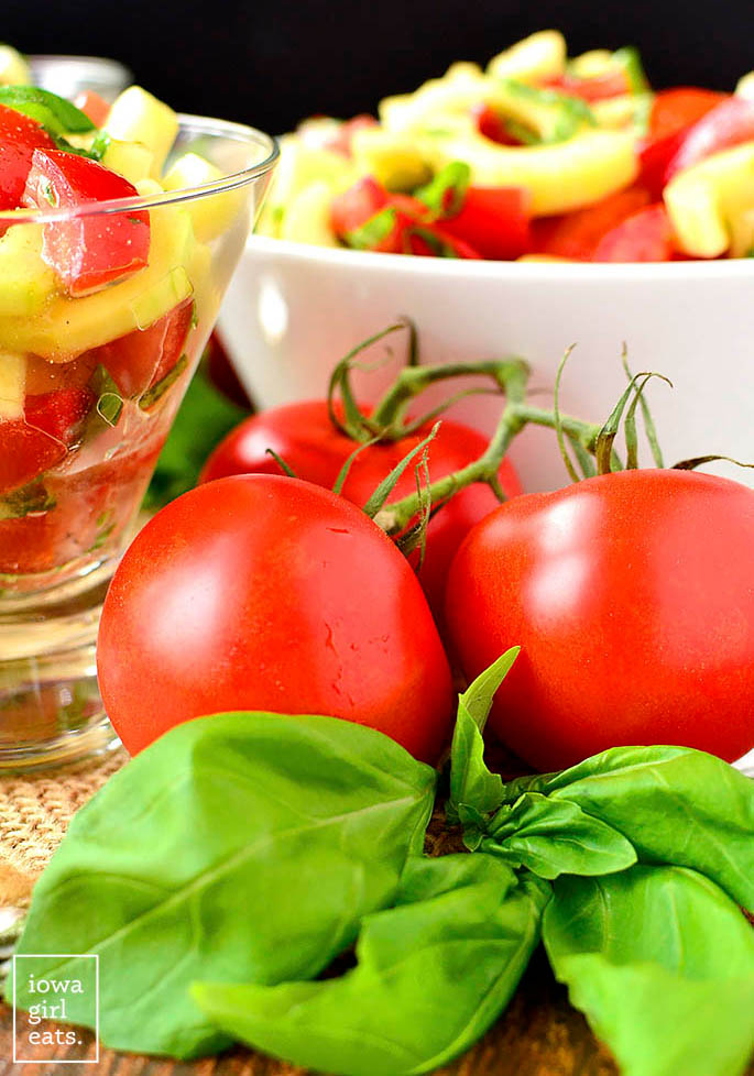 ripe red summer tomatoes