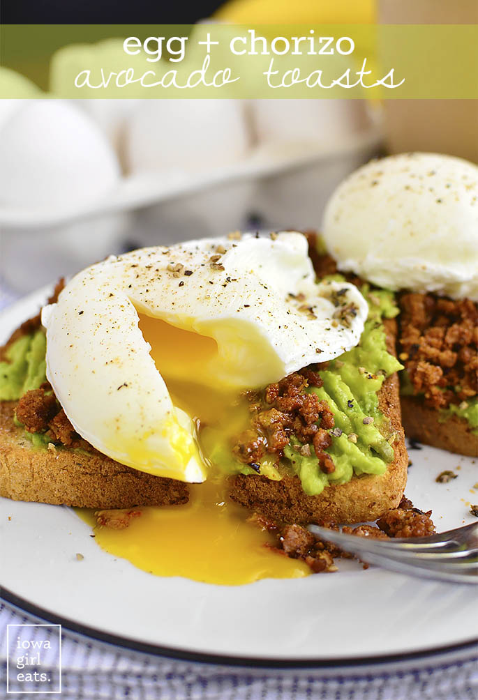egg and chorizo avocado toasts iowa girl eats