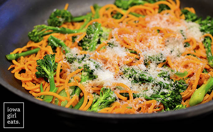 sausage-sweet-potato-noodles-and-broccoli-skillet-iowagirleats-09