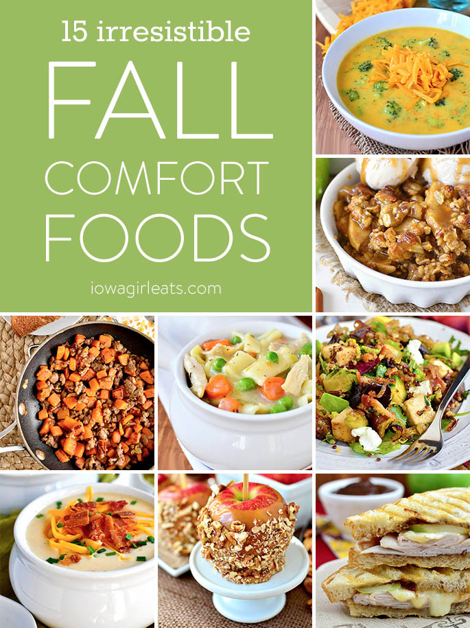 Break out your fall cozies and blankets then make and enjoy any of these 15 gluten-free irresistible fall comfort food recipes! | iowagirleats.com