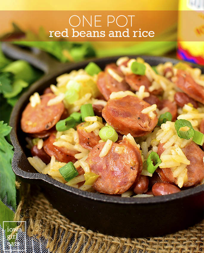 One Pot Red Beans And Rice Iowa Girl Eats