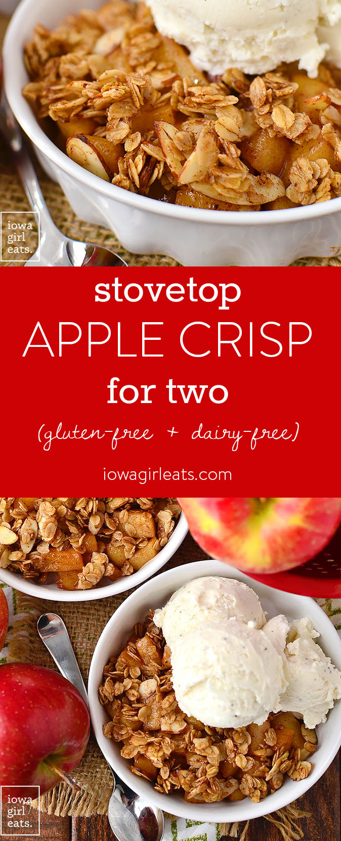 Stove Top Apple Crisp for 2