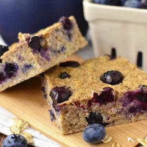 Blueberry Oatmeal Breakfast Bars (Video)