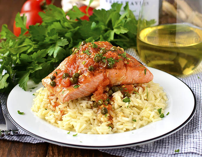 Salmon Provencal is quick, easy and absolutely mouthwatering. Impress your family and friends with this impressive, 30-minute, restaurant-quality salmon dish!   iowagirleats.com
