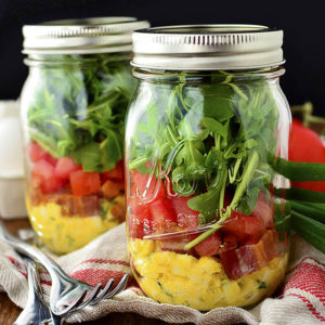 BLT Egg Salad Jars