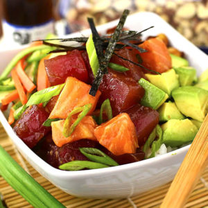 Poke Bowls with Sesame-Soy Almonds