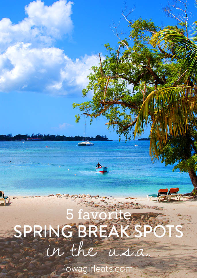 No need to head abroad, there are fun places to visit for spring break right here in the US! Here are 5 of my favorite destinations. | iowagirleats.com