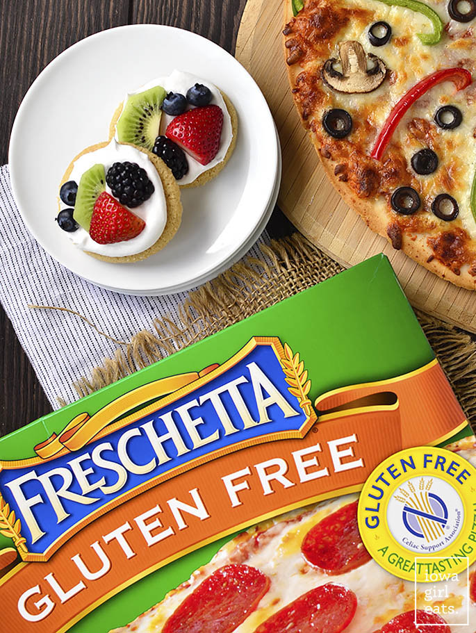 Customize pizza night with a pizza toppings bar plus Mini Fruit Pizza toppings bar! Fun, easy, and delicious.   iowagirleats.com