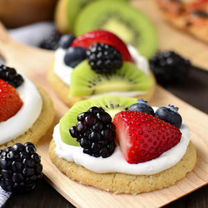 Mini Fruit Pizzas + DIY Pizza Toppings Bar