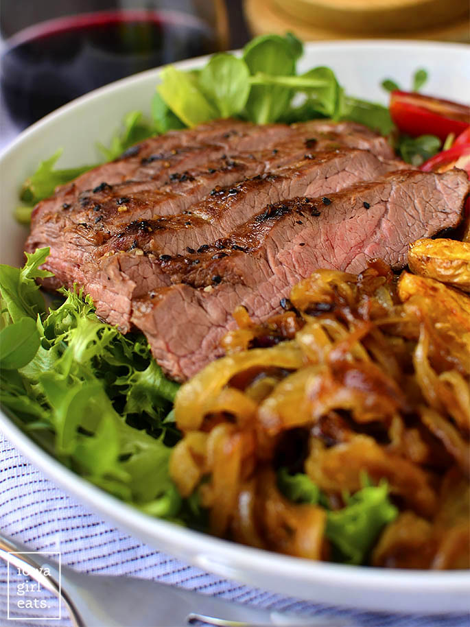 Steak and Potato Bowls are a healthy and hearty grilled gluten-free dinner recipe. Perfect for summer, or any time of year! | iowagirleats.com