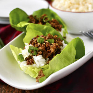 15 Minute Korean Beef Lettuce Wraps (Video)